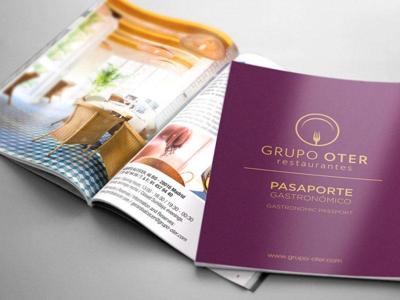 Folleto pasaporte gastronomico grupo oter4